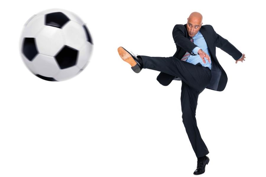 Fussball von Businessman